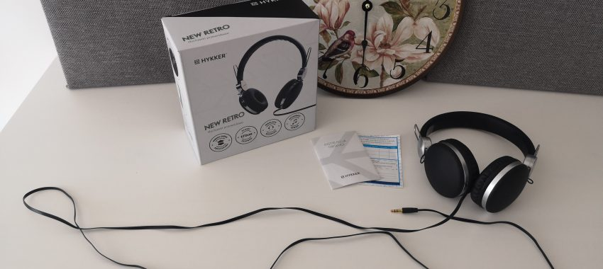 Przewodowe słuchawki w stylu NEW RETRO | HYKKER NEW RETRO