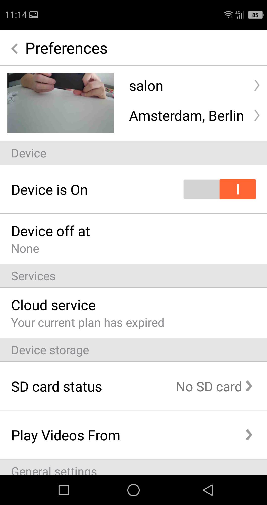 Domowa kamera ze śledzeniem ruchu   SECTEC Cloud WiFi Camera
