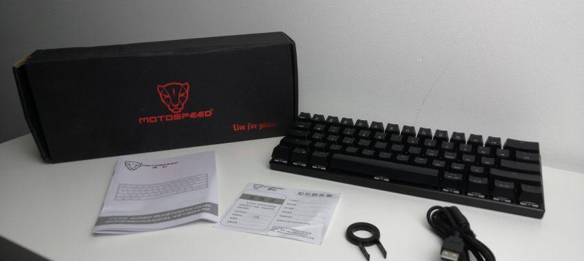 Bezprzewodowa klawiatura mechaniczna w dobrej cenie | MOTOSPEED CK62 OUTEMU BLUE