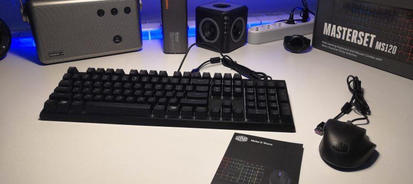 Zestaw z hybrydową klawiaturą mem-chaniczną i myszką   Cooler Master Masterset MS120