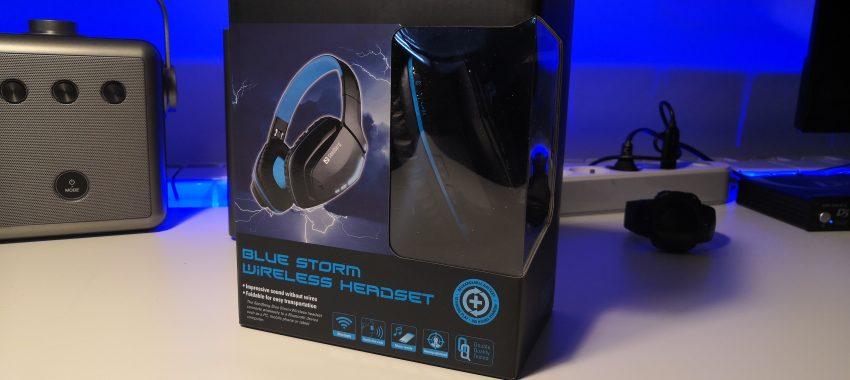 Tanie słuchawki bezprzewodowe z dobrym bassem   Sandberg Blue Storm