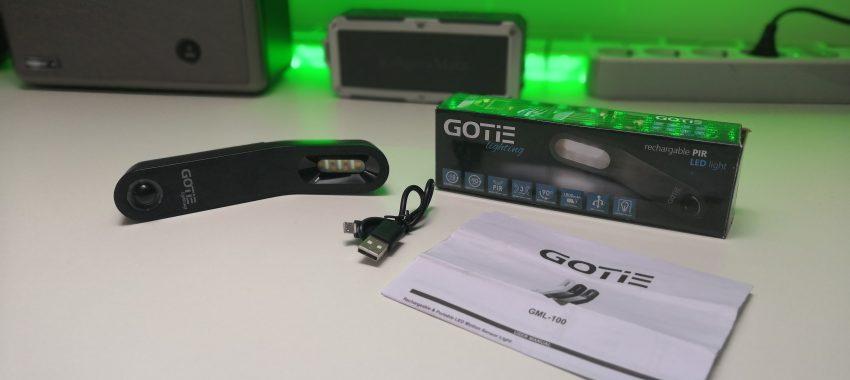 Niewielka, bezprzewodowa lampka LED z czujnikiem ruchu | GOTIE GML-100C