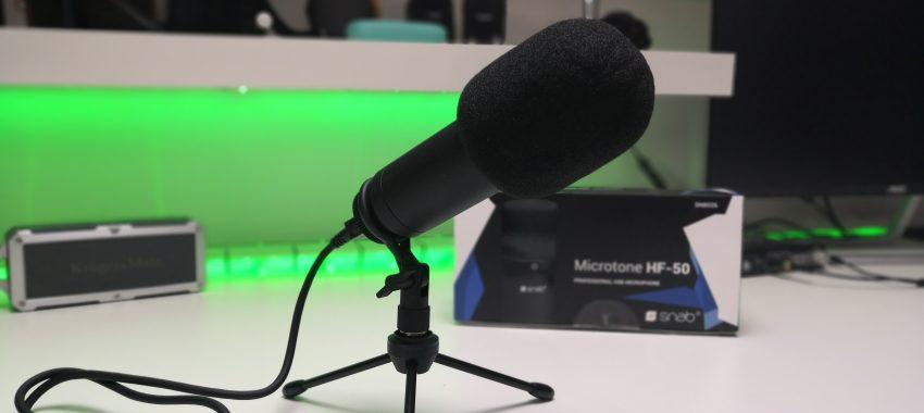 Tani mikrofon pojemnościowy z dobrą jakością rejestrowanego dźwięku | Snab MicroTone HF-50