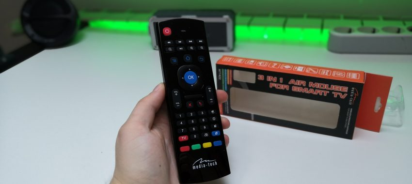 Wielofunkcyjny pilot air mouse 3 w 1 Smart TV z klawiaturą | Media-Tech MT1422