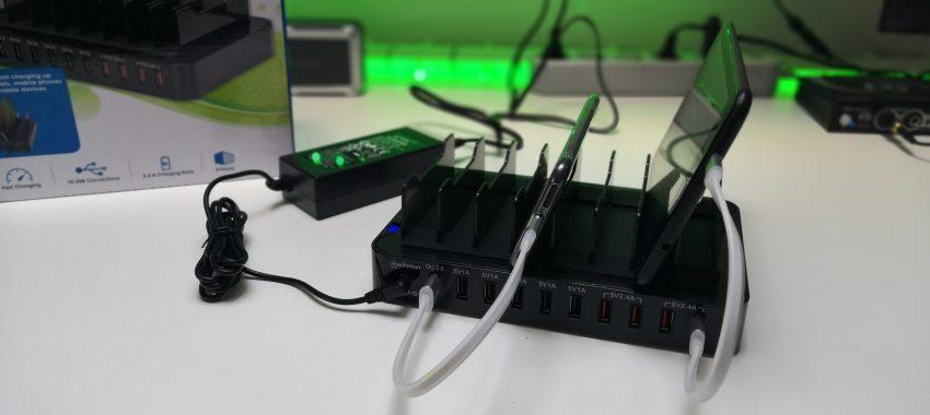 10-portowa stacja zasilająca USB dla całej rodziny! | Manhattan 10-Port USB Charging Station 180009