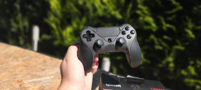 Bezprzewodowy pad Bluetooth z podświetleniem LED dla PS4, PC i Nintendo Switch | Redragon Jupiter G809